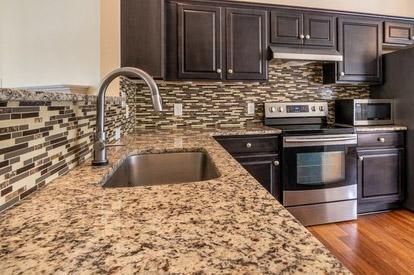 granite countertops in new home