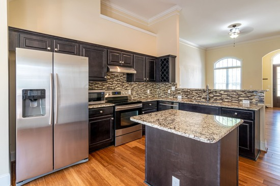 beautiful granite countertops in remodeled dfw home