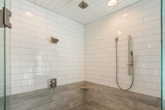 tile shower in North Dallas